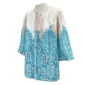 Catherines Woodgrain Floral Tapestry Jacket 14/16